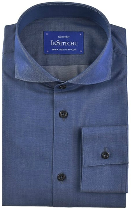 InStitchu Collection Royal Blue Chambray Cotton