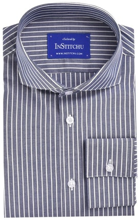 InStitchu Collection Navy Stripes Easy Iron Collection