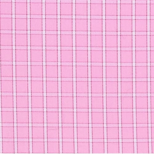 InStitchu Collection Pink Check Easy Iron Collection