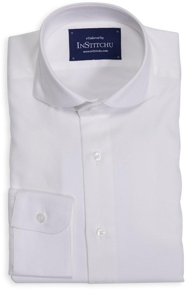 Plain White Cutaway Shirt