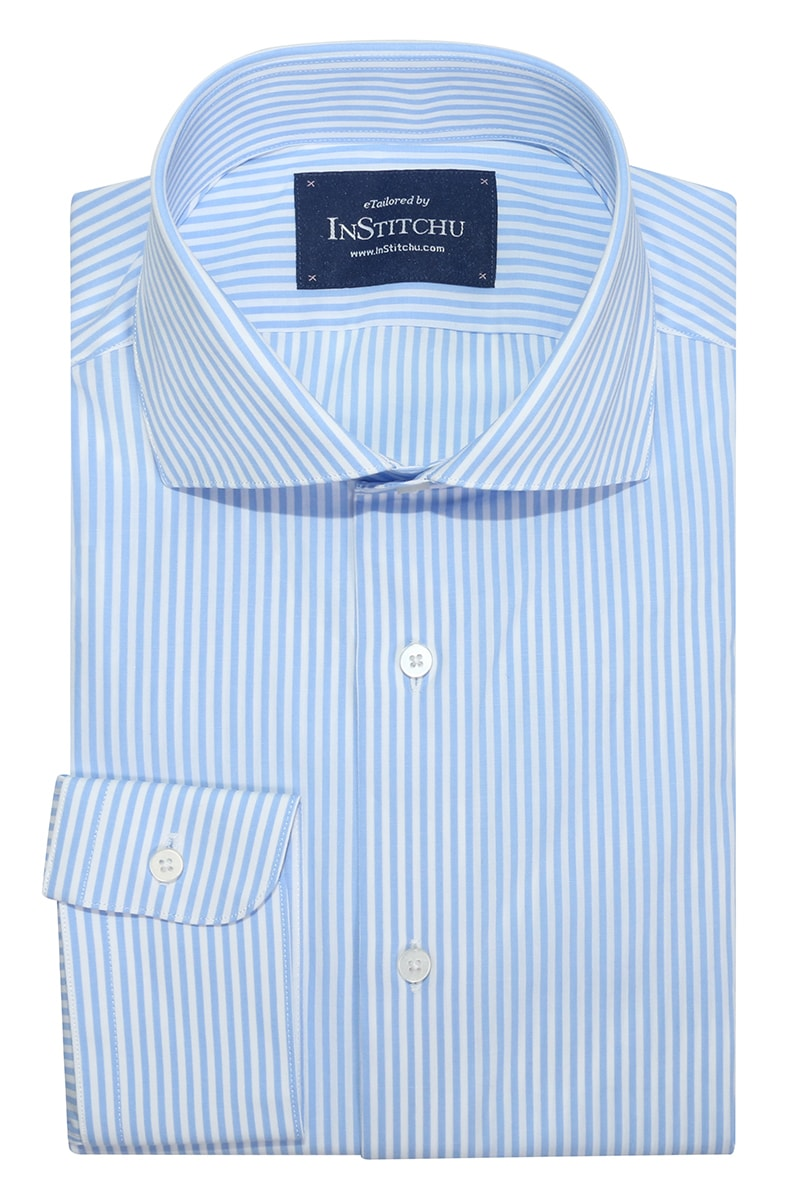 InStitchu Collection Altona Blue Striped Shirt