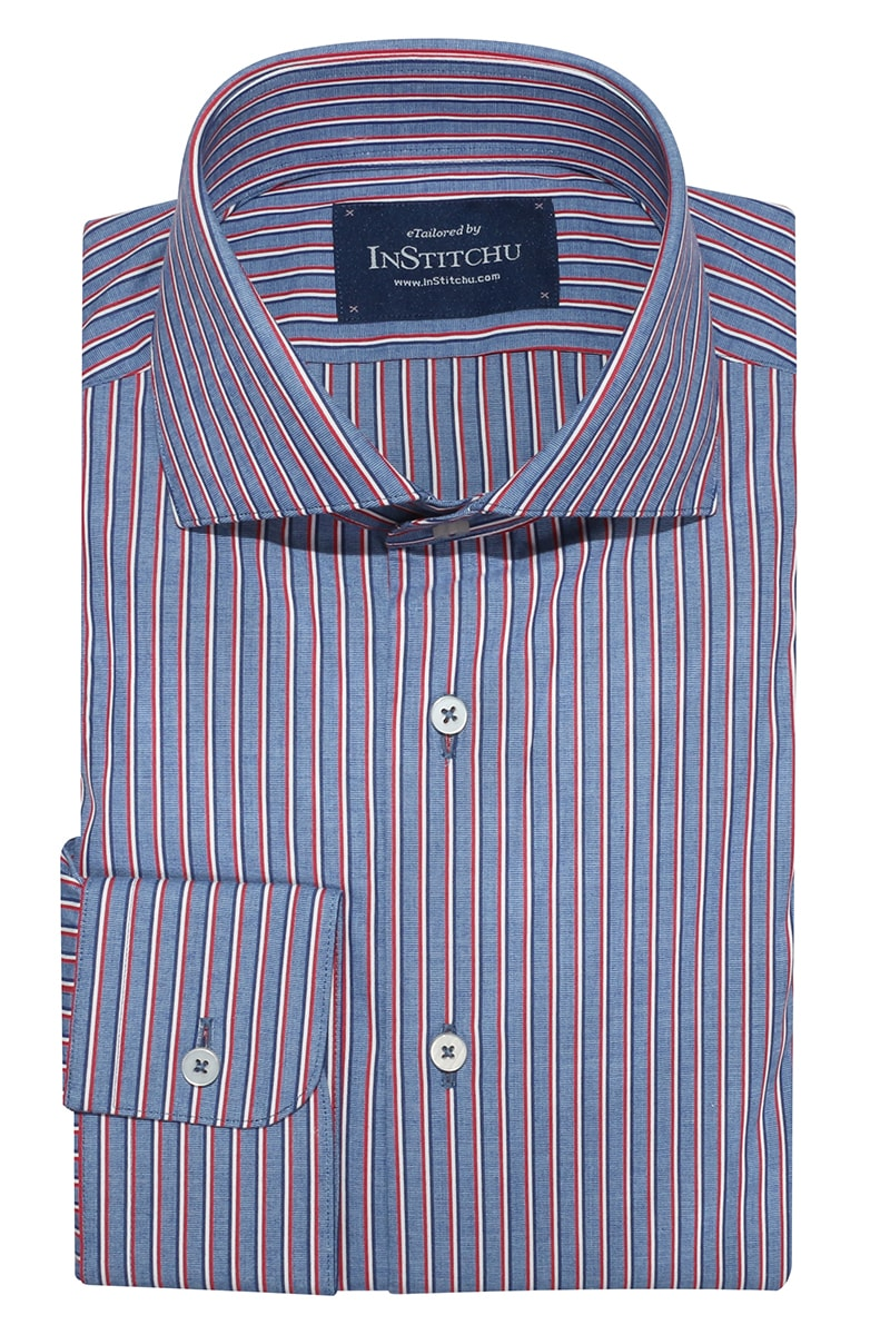 InStitchu Collection Berwick Blue Striped Shirt