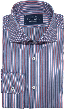 InStitchu Collection Berwick Blue Striped Shirt