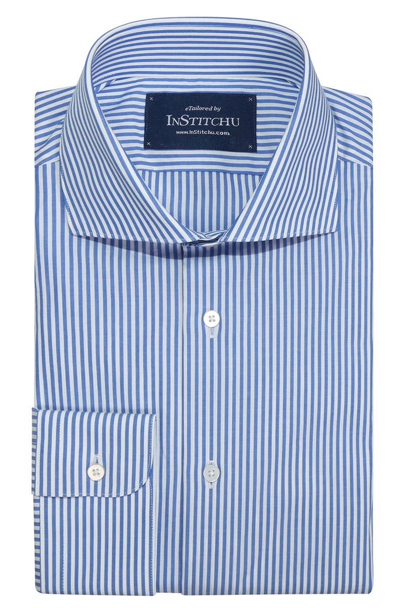 InStitchu Collection Bracken Blue Striped Shirt