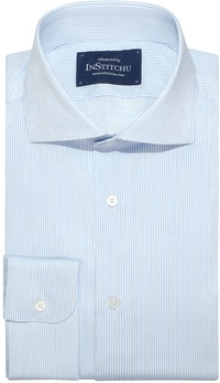 InStitchu Collection Dianella Blue Wrinke Free Striped Shirt
