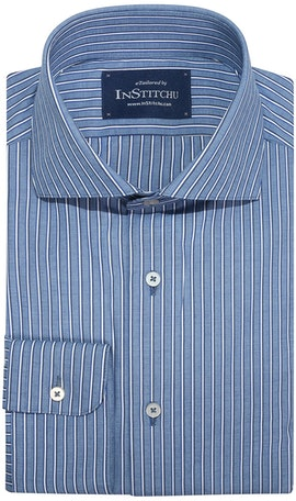 InStitchu Collection Ferny Blue Striped Shirt