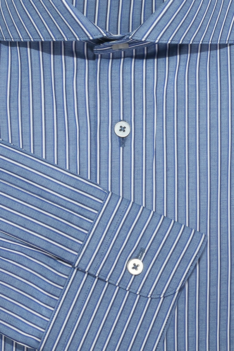 InStitchu Collection Ferny Blue Striped Shirt
