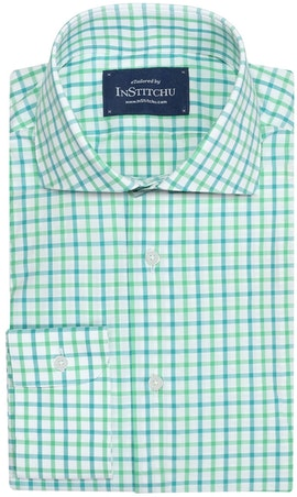 InStitchu Collection Glenorchy Green Check Shirt
