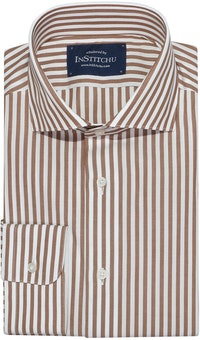 InStitchu Collection Kincumber Brown Striped Shirt
