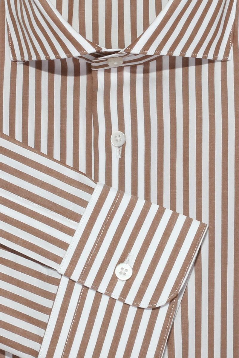 InStitchu Collection Kincumber Brown Striped Shirt