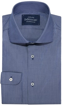 InStitchu Collection Mindarie Blue Striped Shirt
