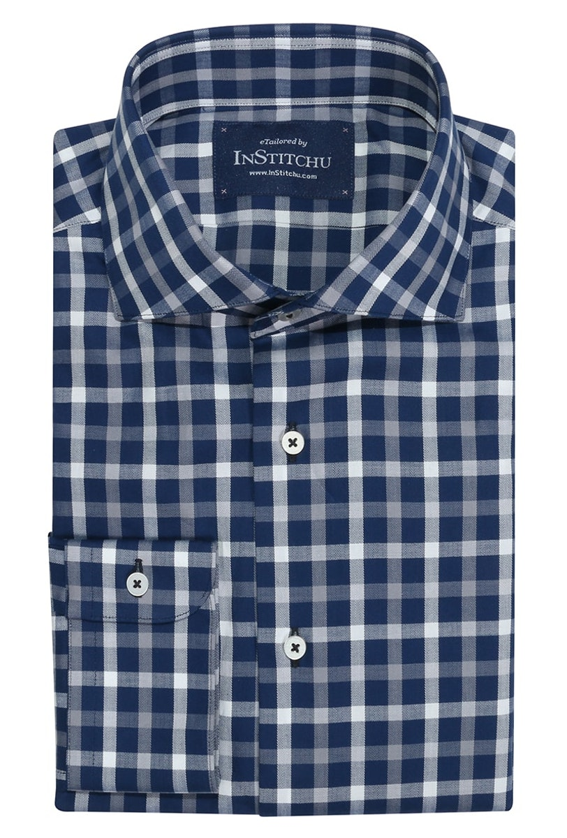 InStitchu Collection Moorooka Blue Check Shirt