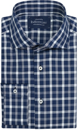 InStitchu Collection Moorooka Blue Check Shirt