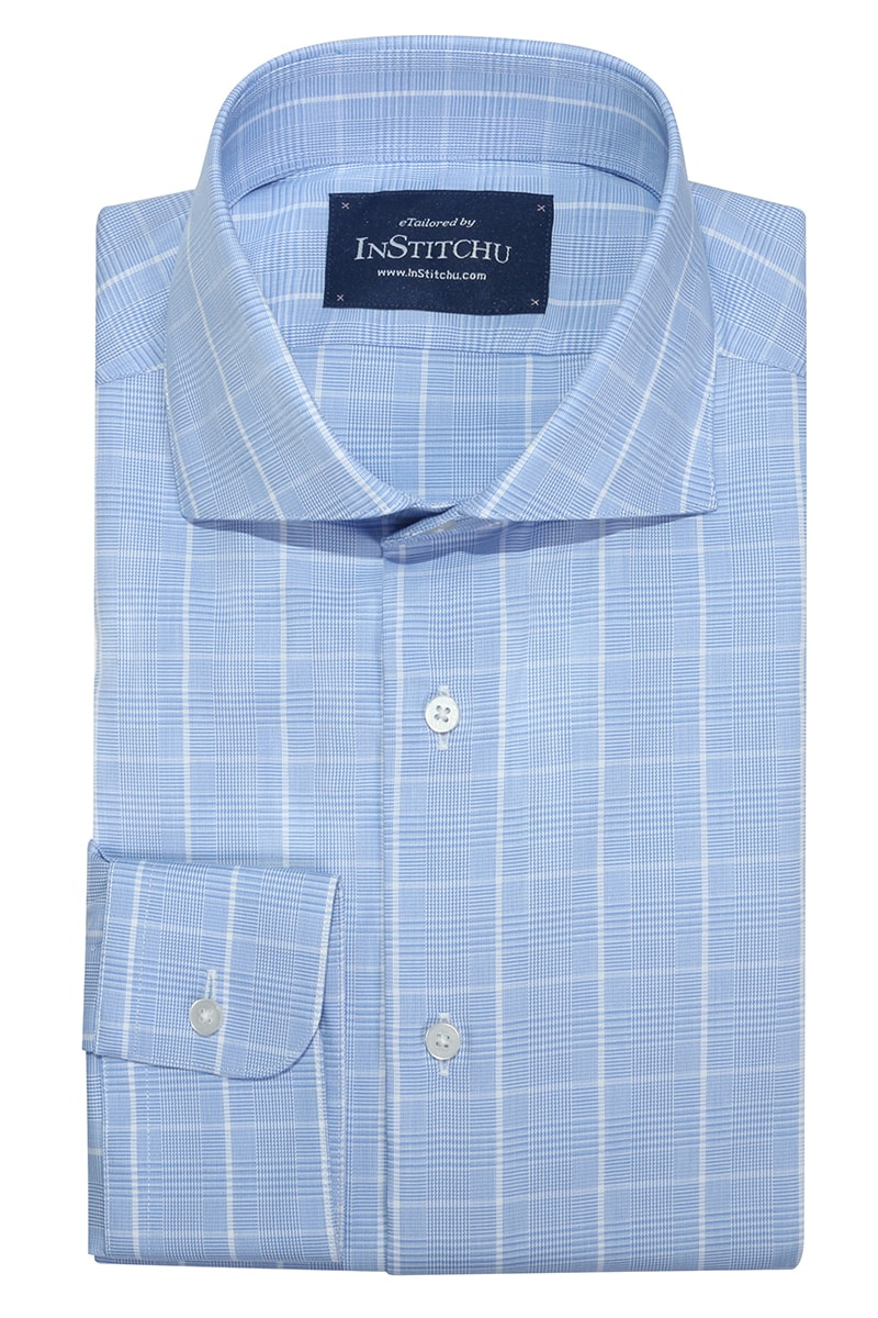InStitchu Collection Northam Blue Wrinke Free Check Shirt
