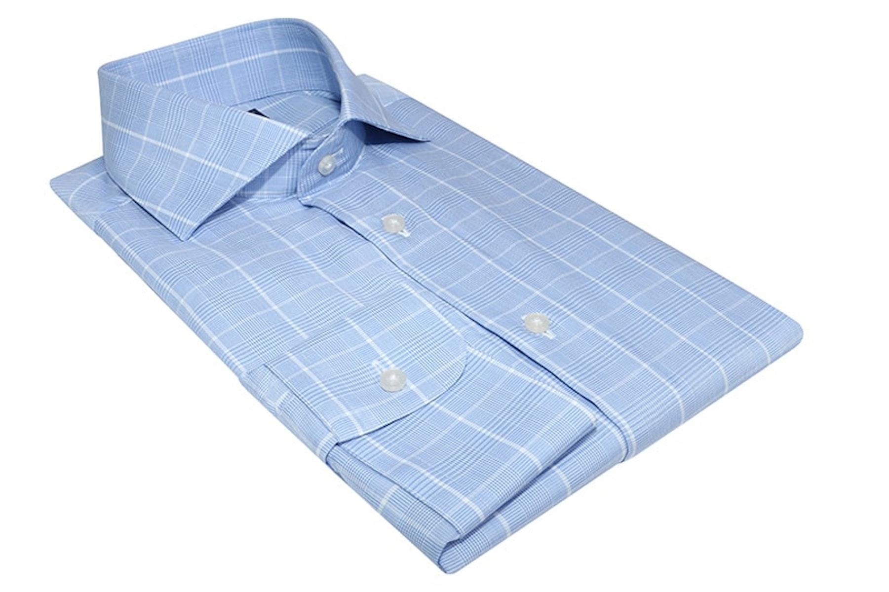 InStitchu Collection Northam Blue Wrinke Free Check Shirt