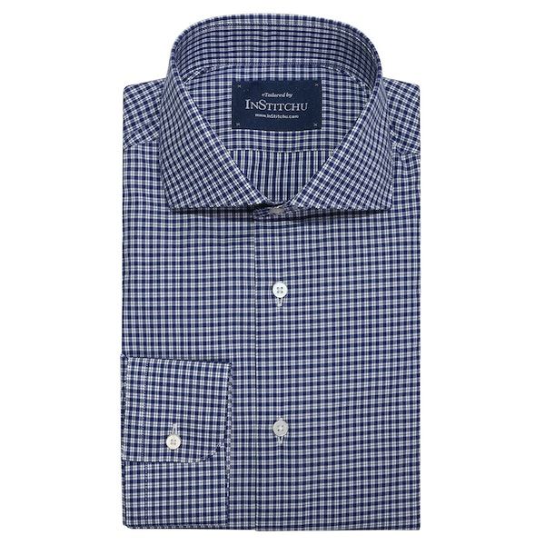 InStitchu Collection Redcliffe Blue Check Shirt
