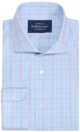 InStitchu Collection Seaford Blue Check Shirt