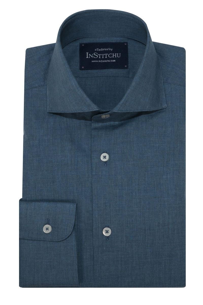 InStitchu Collection Stafford Blue Chambray Plain Shirt