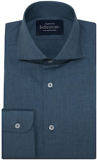 InStitchu Collection Stafford Blue Chambray Plain Shirt