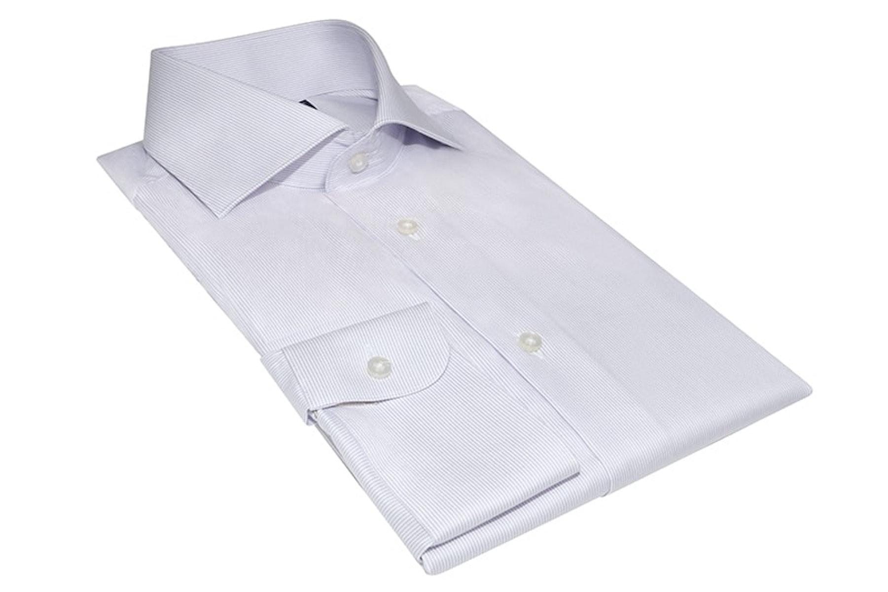 InStitchu Collection Tapping Purple Wrinke Free Striped Shirt