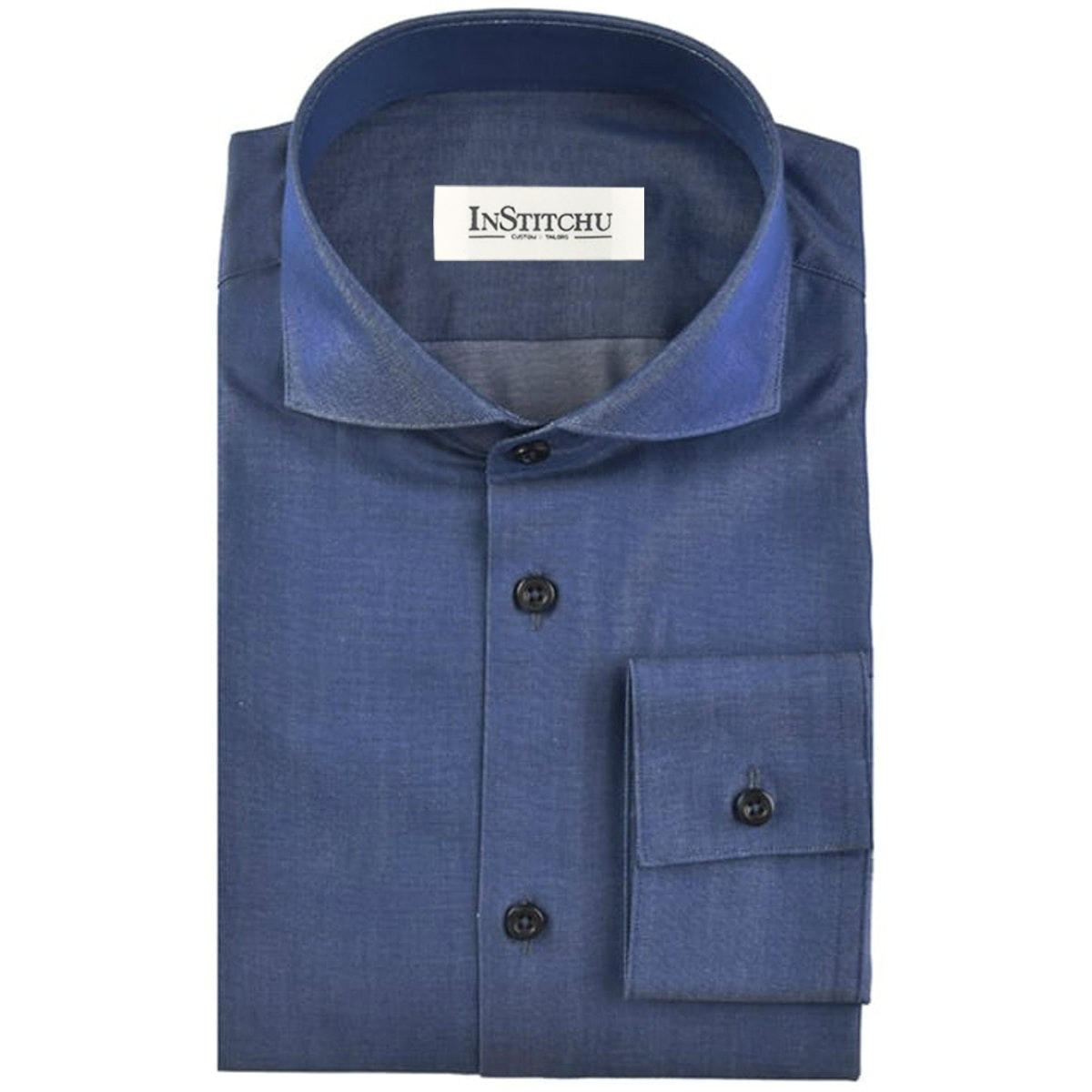 InStitchu Collection The Aldinga Blue Chambray Shirt