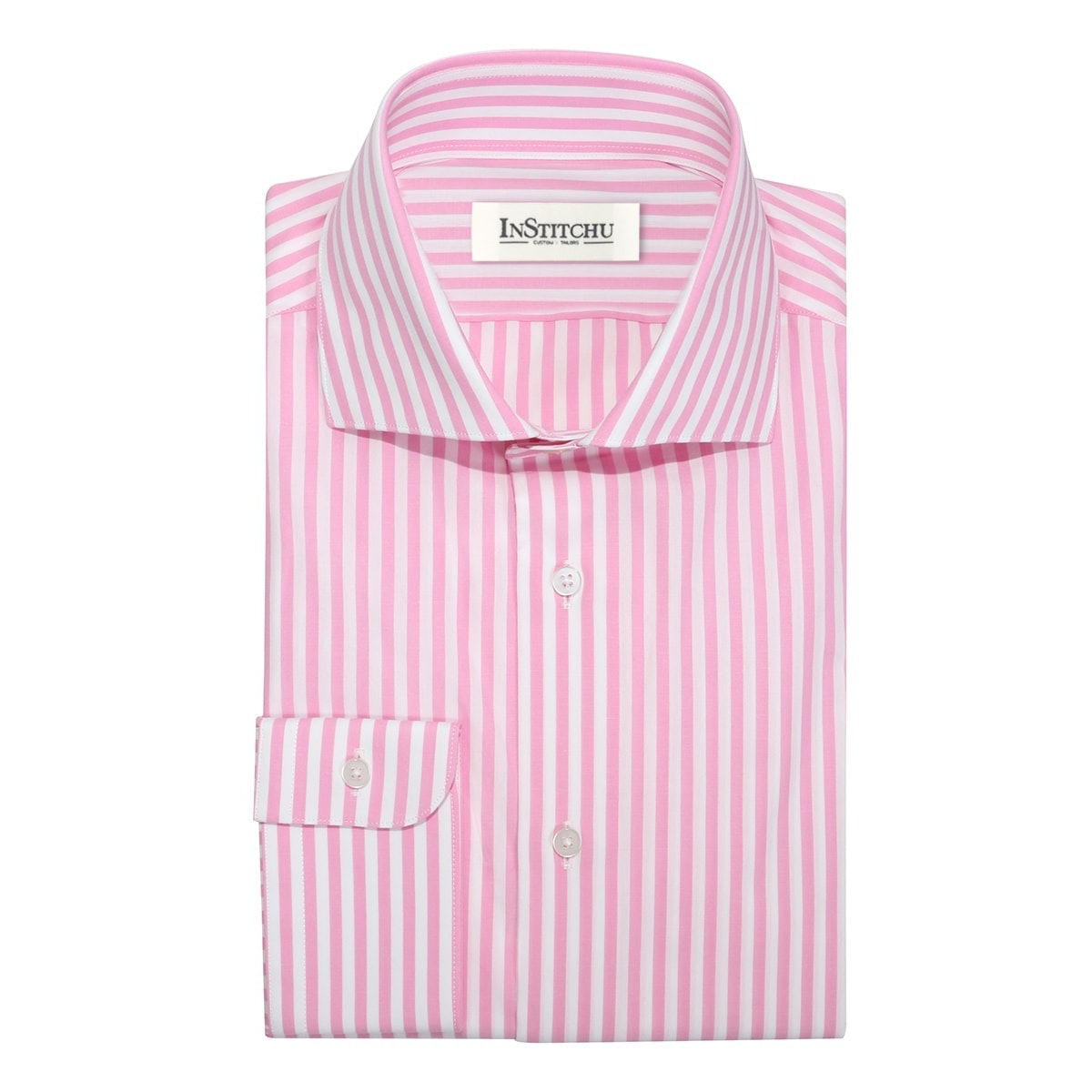 InStitchu Collection The Anawhata Pink Stripe Shirt