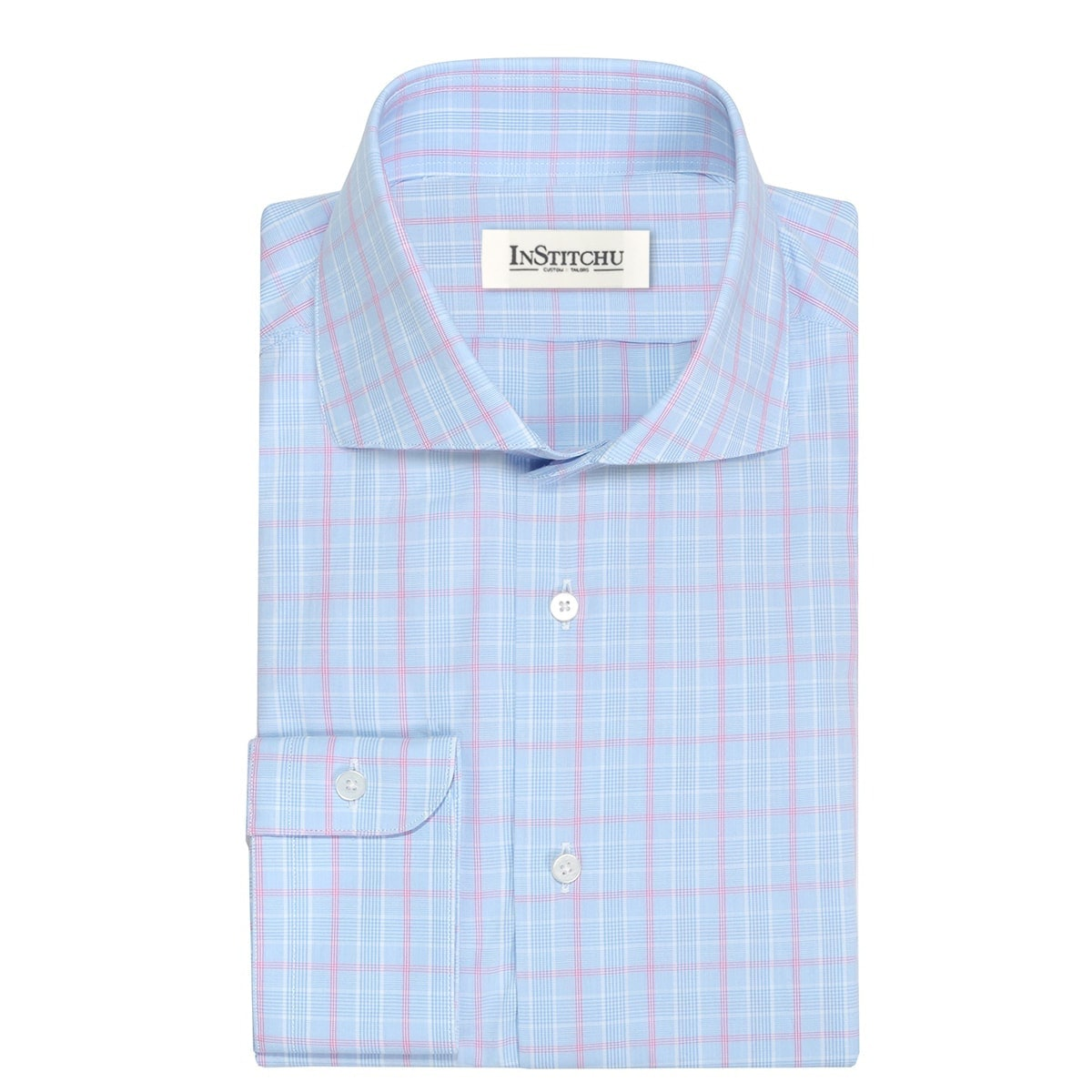 InStitchu Collection The Angels Pink and Blue Check Shirt