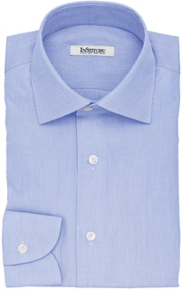 InStitchu Collection The Aristotle Blue Textured Cotton Shirt