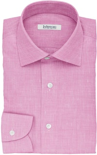 InStitchu Collection The Balzac Pink Cotton Linen Blend Shirt