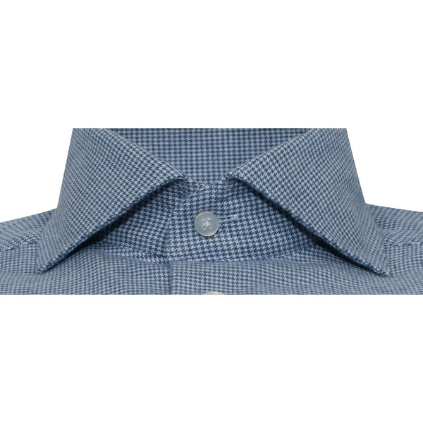 InStitchu Collection The Barranco Blue Houndstooth Shirt