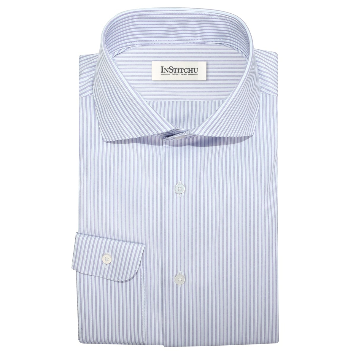 InStitchu Collection The Bassett Lavender Stripe Shirt