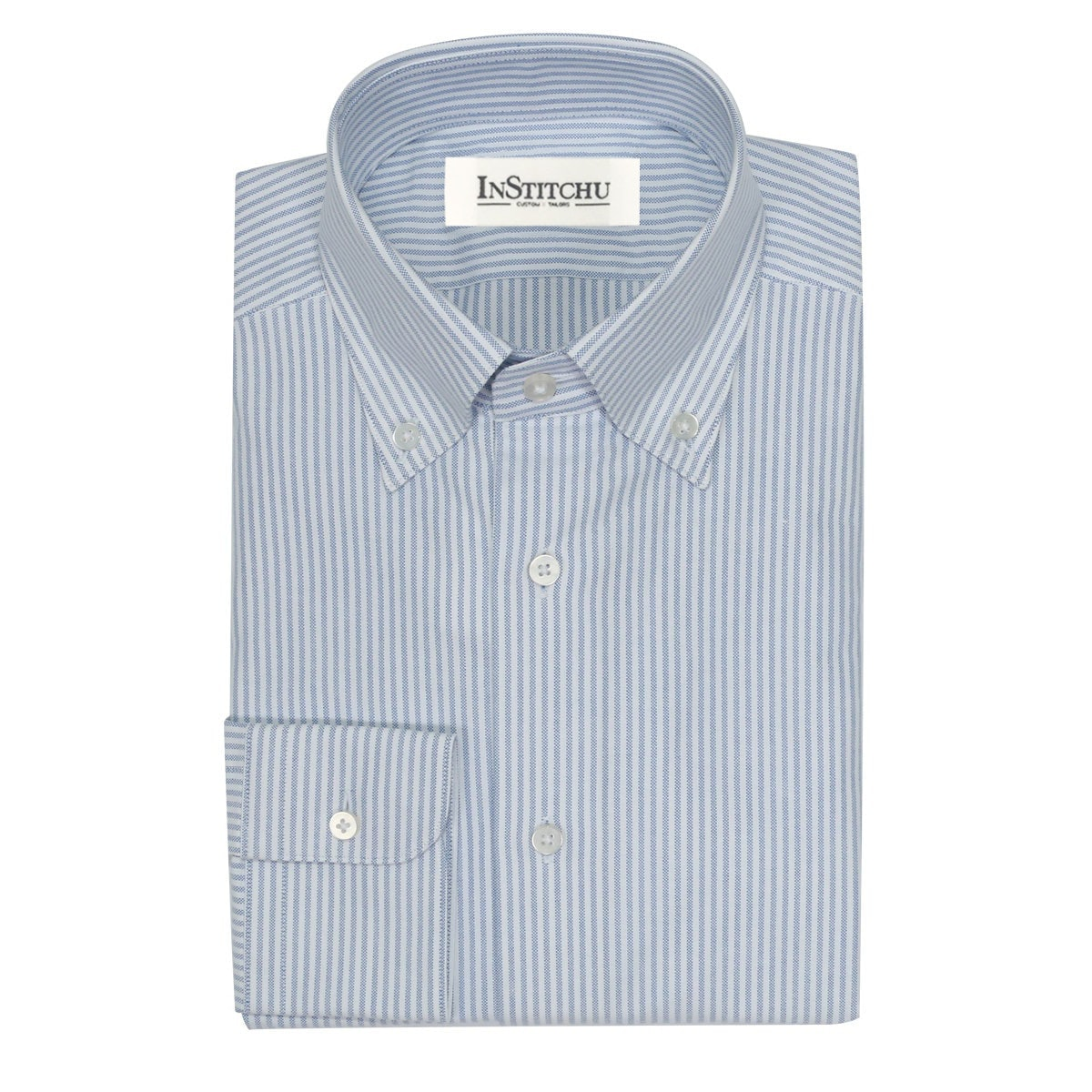 InStitchu Collection The Bathers Blue Striped Shirt