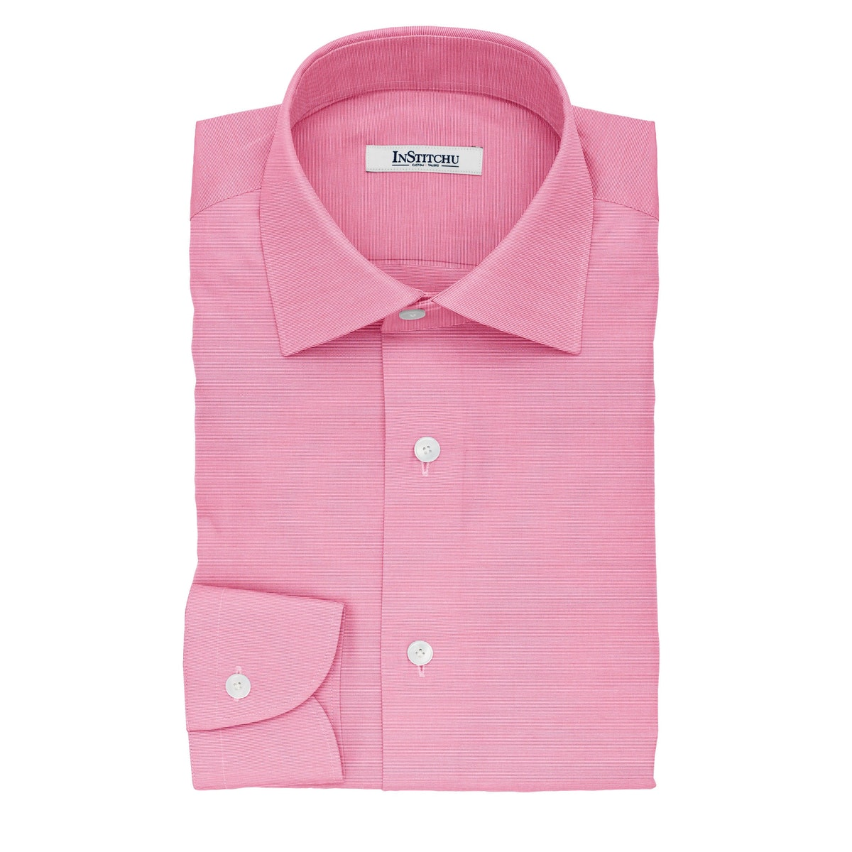 InStitchu Collection The Benson Pink and White Striped Cotton Shirt