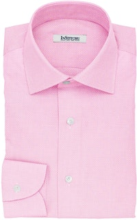 InStitchu Collection The Bierce Pink Textured Cotton Shirt