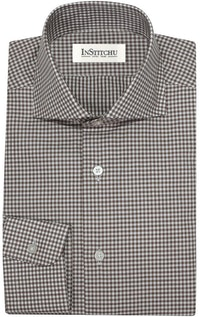 InStitchu Collection The Bilgola Brown Check Shirt