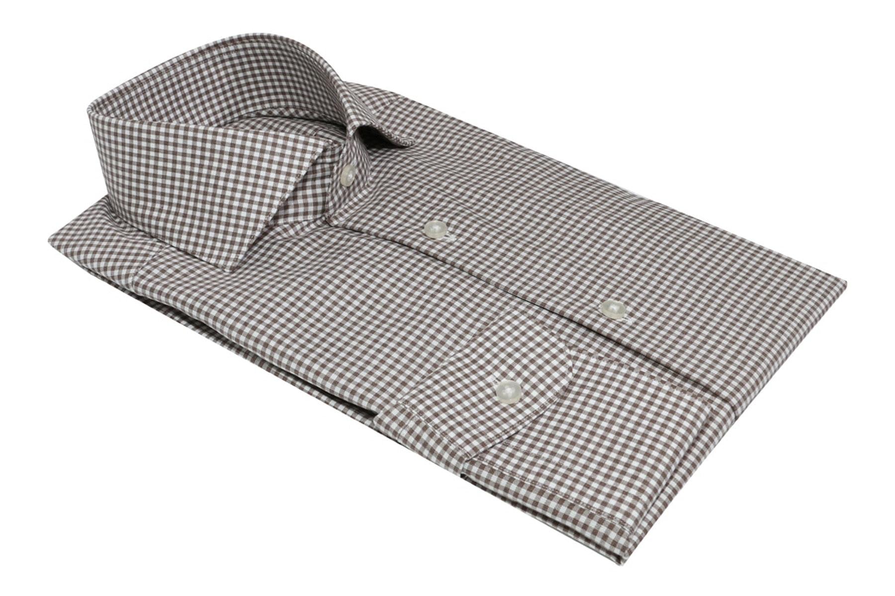 InStitchu Collection The Bilgola Brown Check Shirt