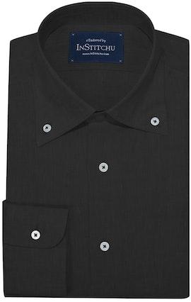 InStitchu Collection The Black Linen Button Down Shirt