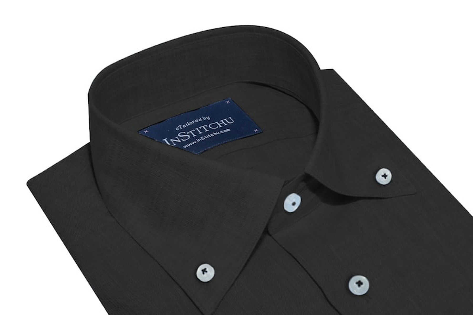InStitchu Collection The Black Linen Button Down Shirt