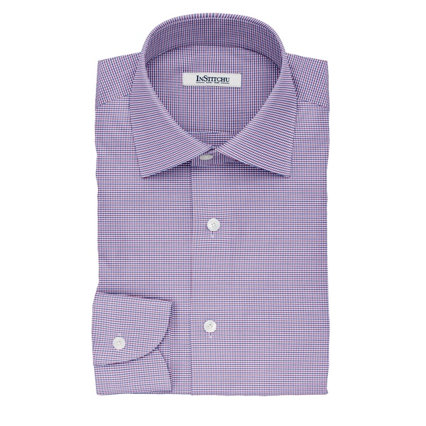 InStitchu Collection The Blake Blue and Purple Plaid Cotton Shirt