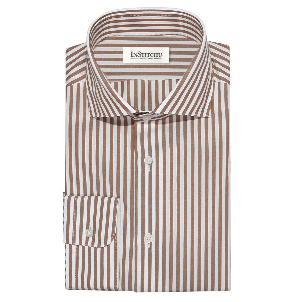 InStitchu Collection The Boulder Brown Stripe Shirt