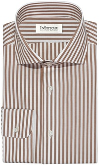 InStitchu Collection The Boulder Brown Stripe Shirt