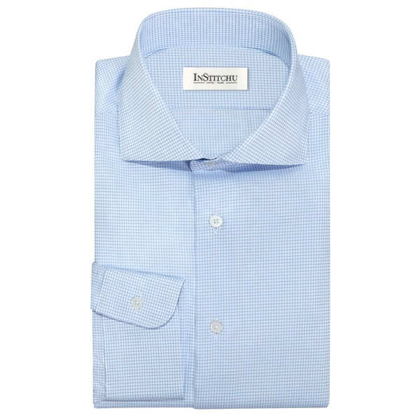 InStitchu Collection The Bowers Blue Check Shirt