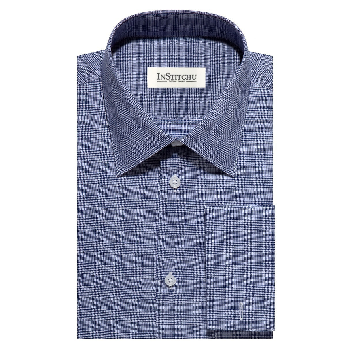 InStitchu Collection The Bradford Blue Check Shirt