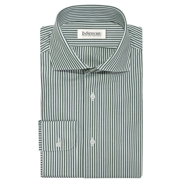 InStitchu Collection The Brosnan Green Stripe Shirt