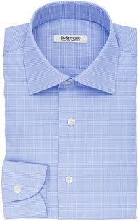 InStitchu Collection The Browning Blue Glen Plaid Non-Iron Cotton Shirt