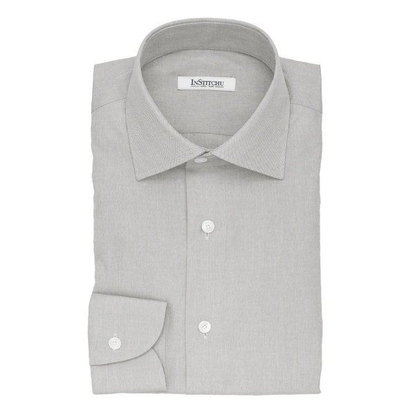 InStitchu Collection The Cannes Grey Cotton Shirt