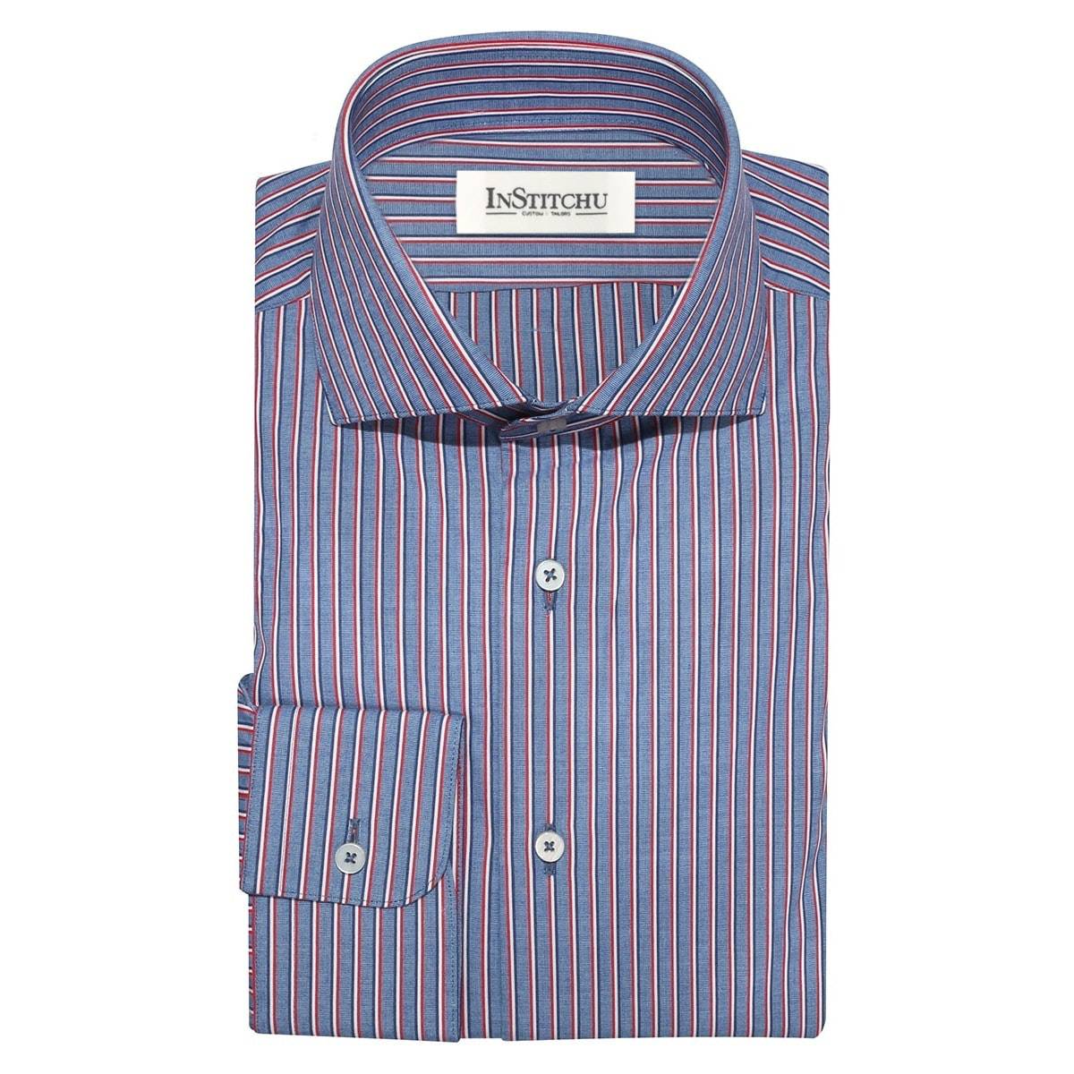 InStitchu Collection The Castaways Blue Stripe Shirt