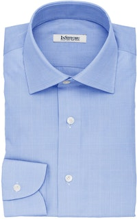InStitchu Collection The Chekhov Blue Glen Plaid Cotton Shirt