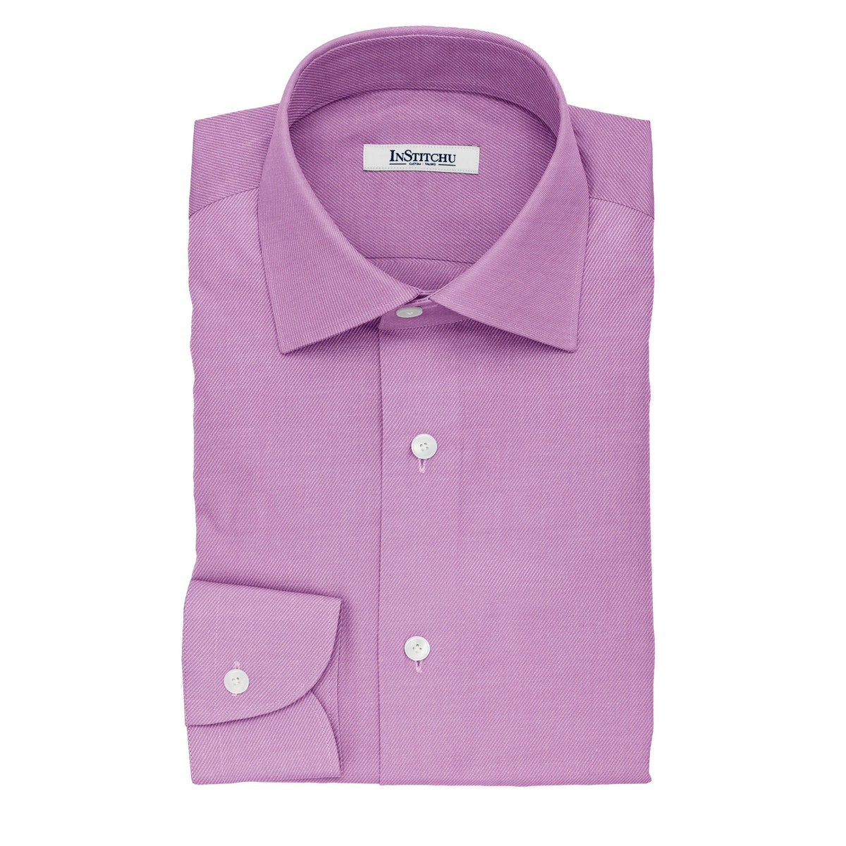InStitchu Collection The Chesterton Purple and White Striped Cotton Shirt