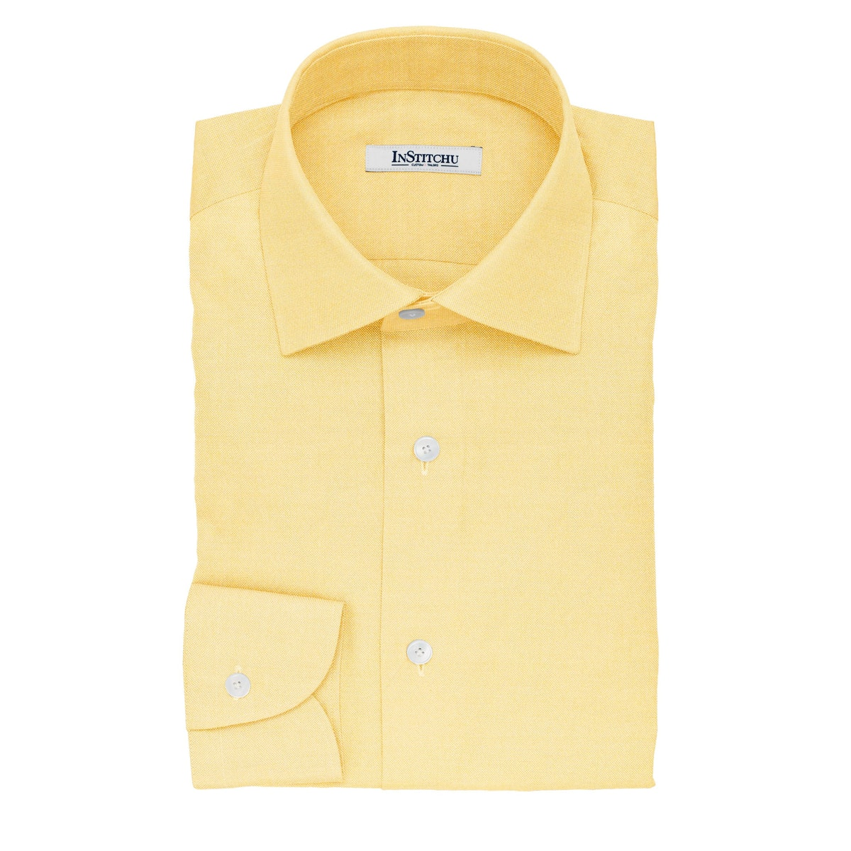 InStitchu Collection The Clare Yellow Pinpoint Cotton Oxford Shirt